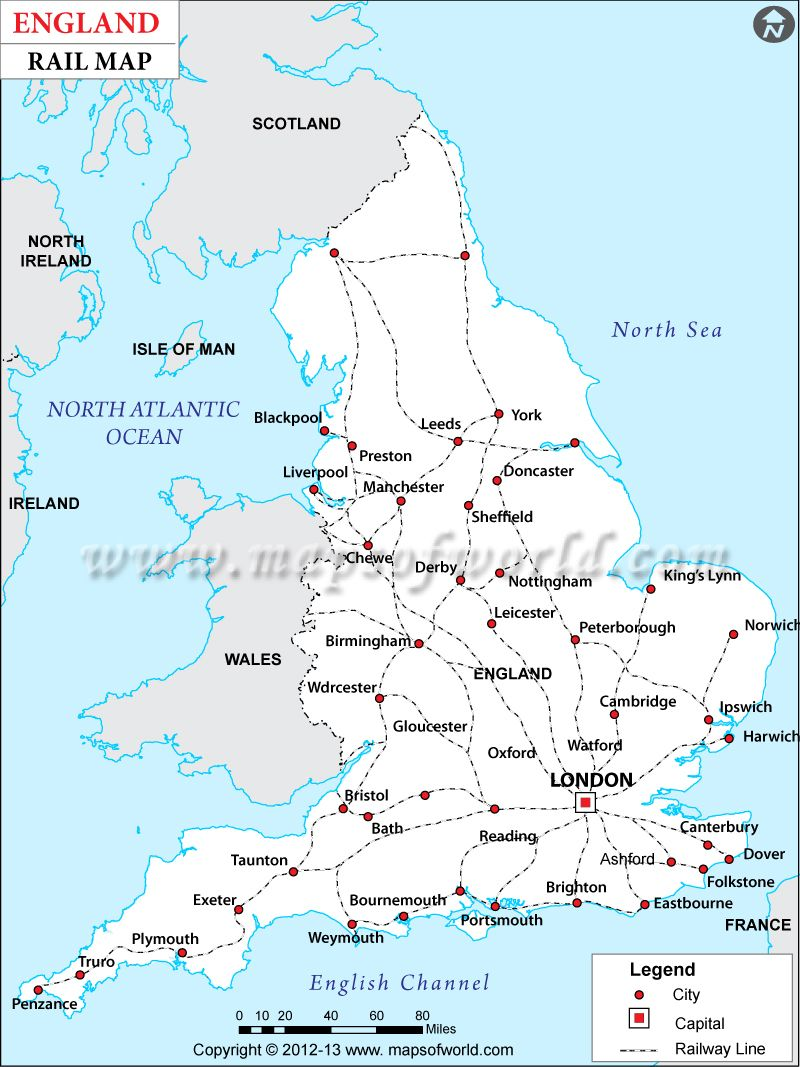 Pin canadian national railroad map on pinterest - The England Rail Map Shows The Rail Network Of England Different Railway Zones National Railway Routes And Major Cities Railway Line
