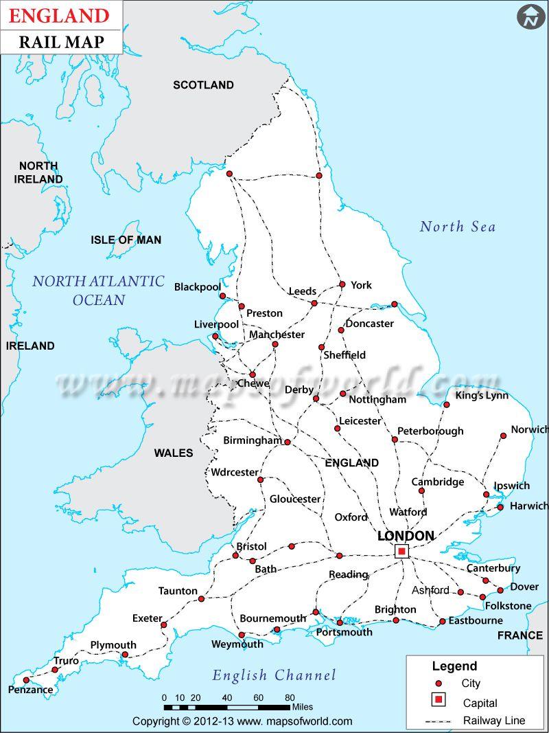 England Rail Map Story Board Quiet Hope Pinterest - Ireland major cities map