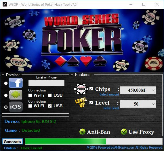 WSOP WORLD SERIES OF POKER HACK Hack with App World