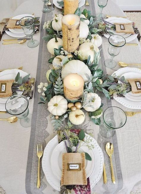 32 Thanksgiving Table Settings That Inspire #thanksgivingtablesettings