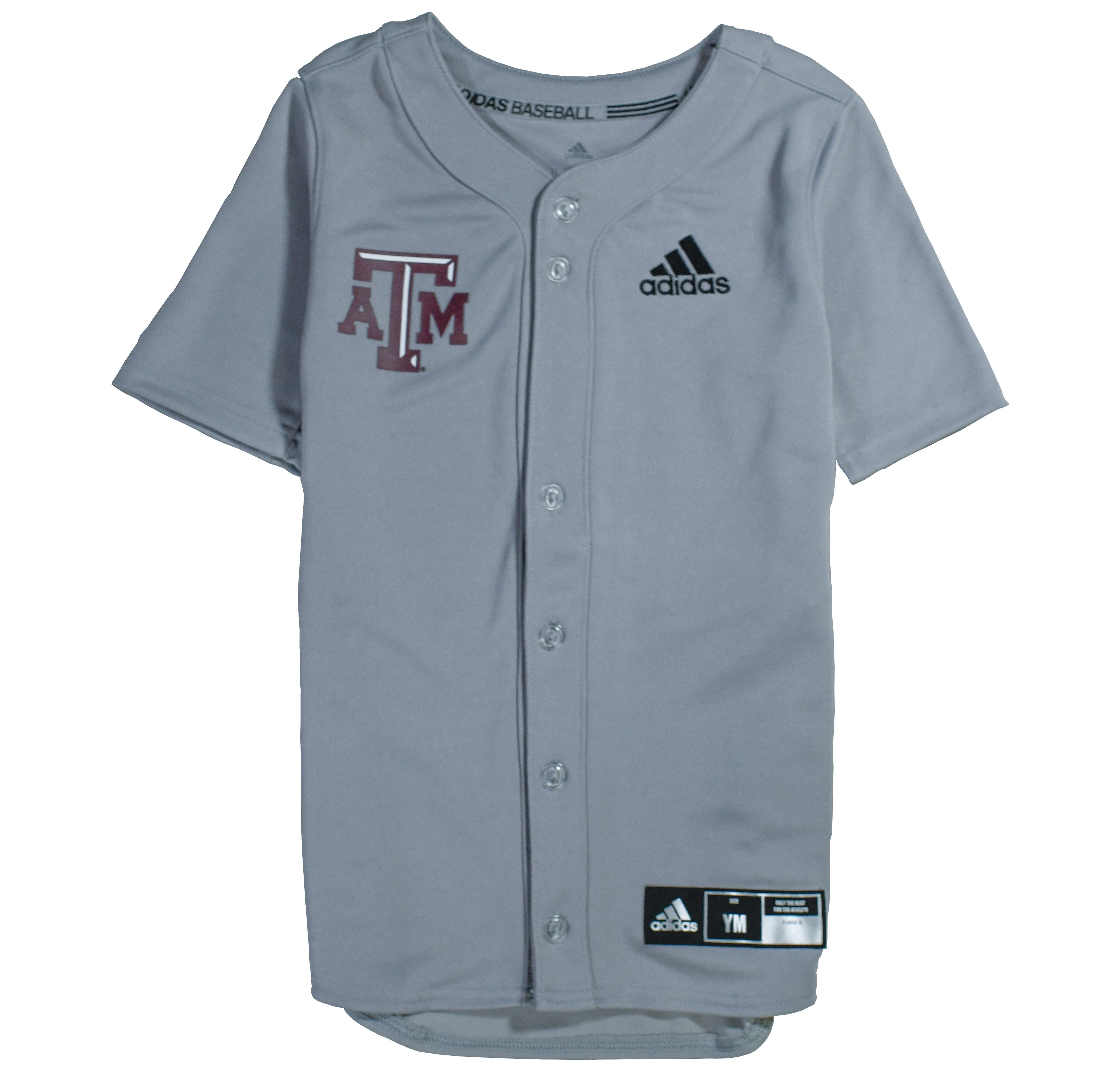 huge selection of d00cd d2fc8 Texas A&M Adidas Diamond King Elite Full Button Youth ...