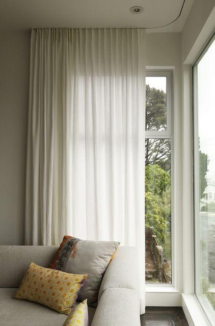 Modern Curtains On Recessed Track Window Treatments San Francisco By Sch Custom Furnishings