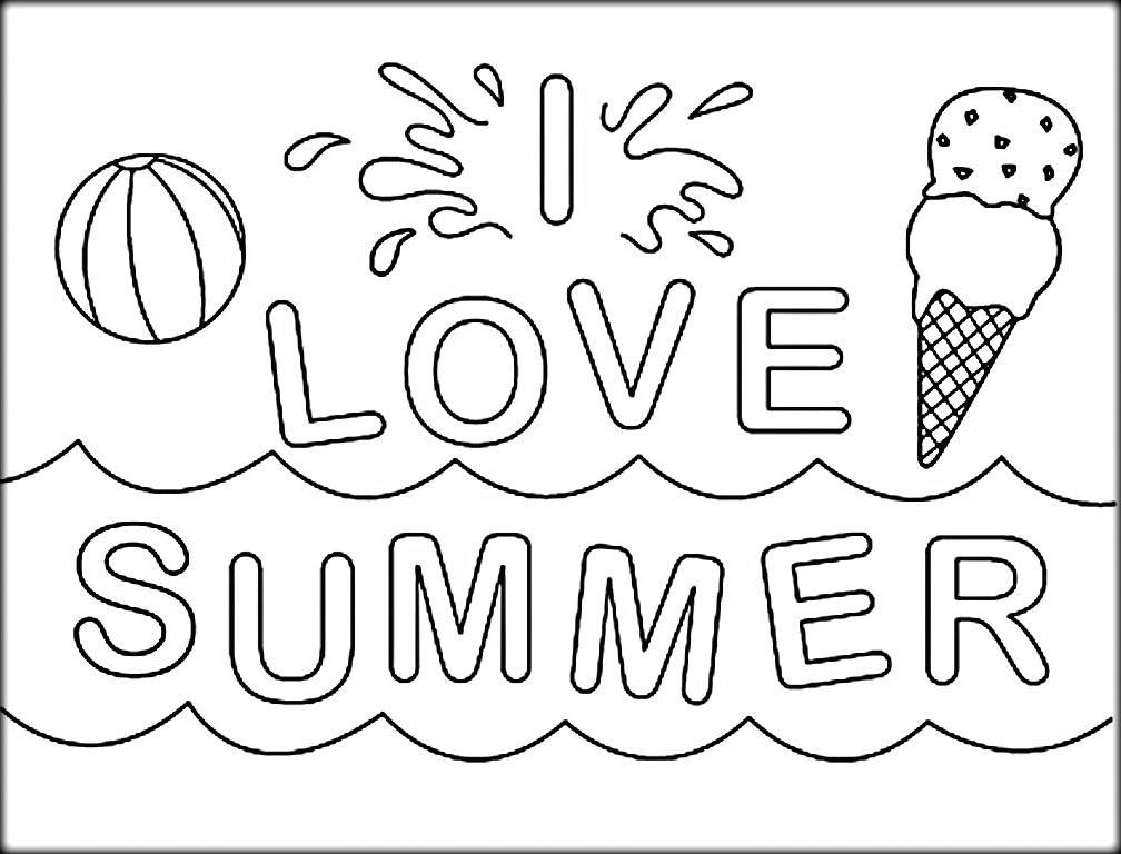 Summer Coloring Pages For Kids Print Them All For Free Summer Coloring Sheets Summer Coloring Pages Coloring Pages
