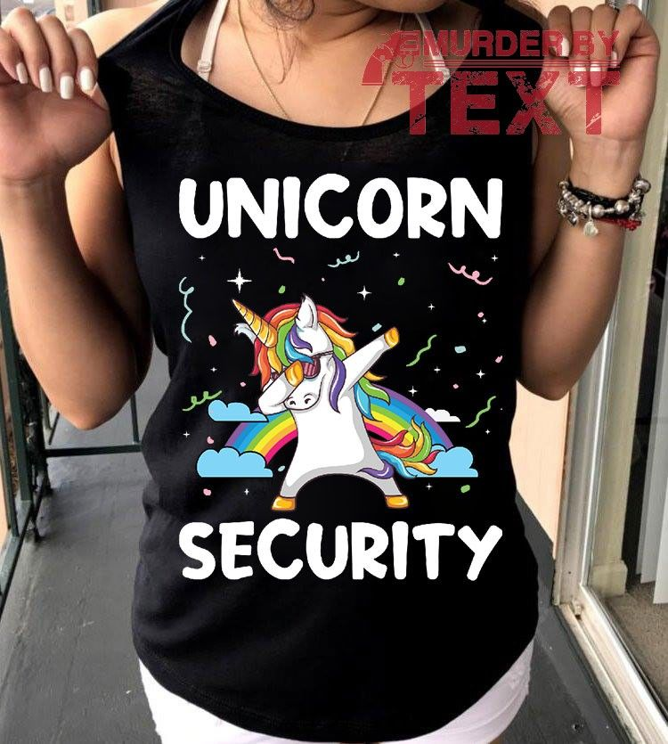 Unicorn Security  Gift Unicorn Outfits Funny Unicorn Shirts For Women