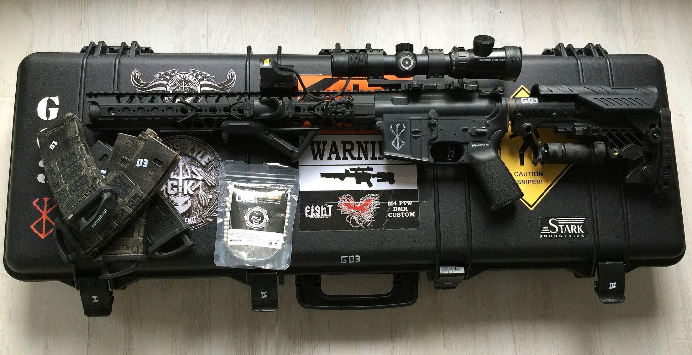 M4 SYSTEMA PTW DMR | Air guns | Guns, Firearms