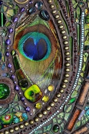 peacock mosaic by azure angel
