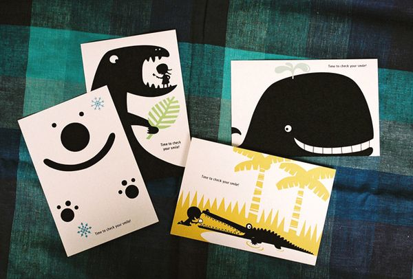 Pediatric Dentist S Recall Cards Dental Business Cards Business Cards Creative Postcard Design