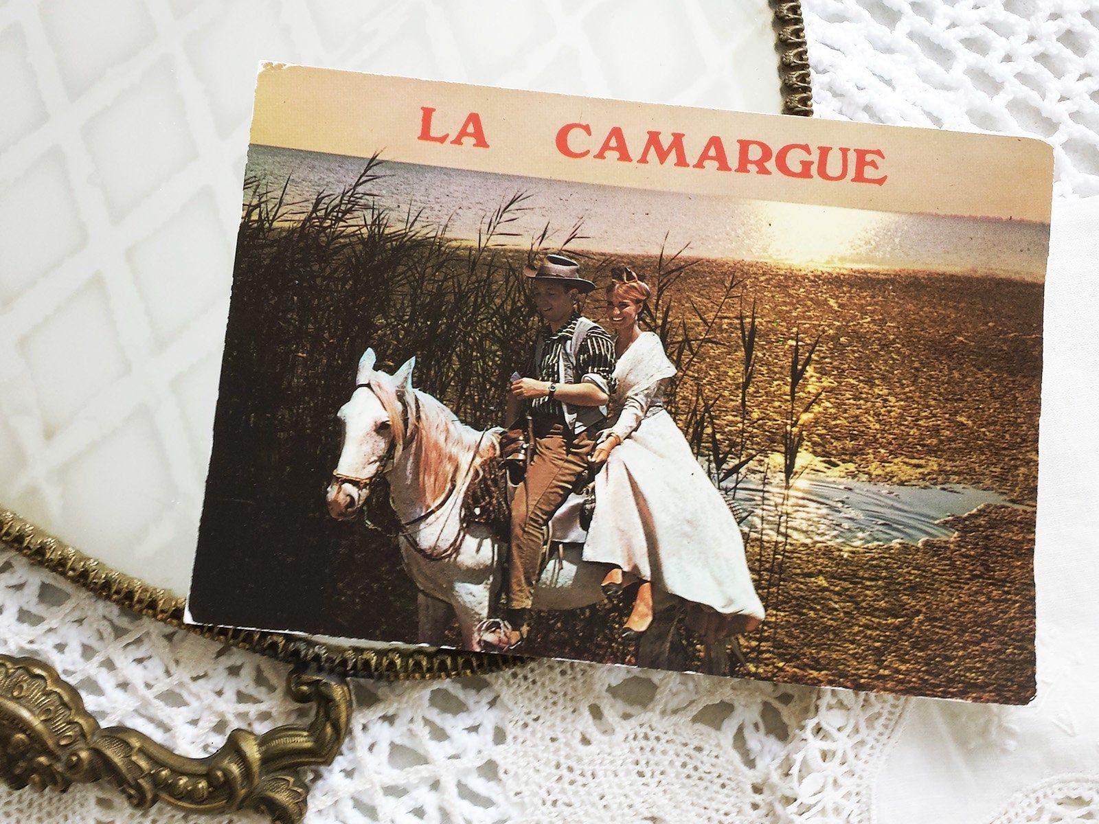 Postcard Camargue Vintage Guardian Arlesian Guardian Traditional