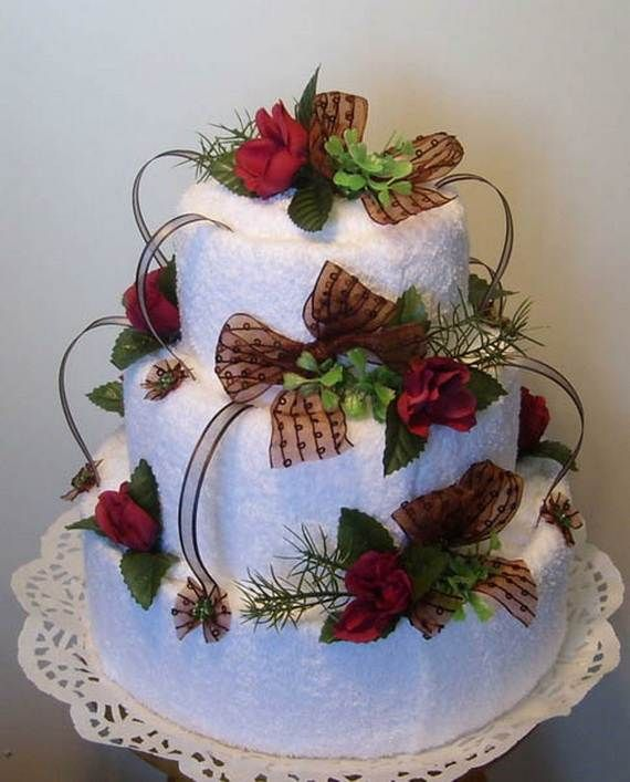 unusual homemade mothers day  ideas amazing towel cakes also best house warming ts images napkins cake rh pinterest