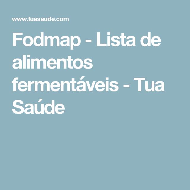 dieta fodmap em portugues