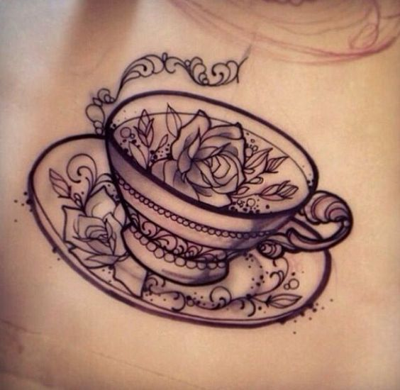 projects idea unique tea cups. Roses and tea cup tattoo  Tattoos c Pinterest Cup