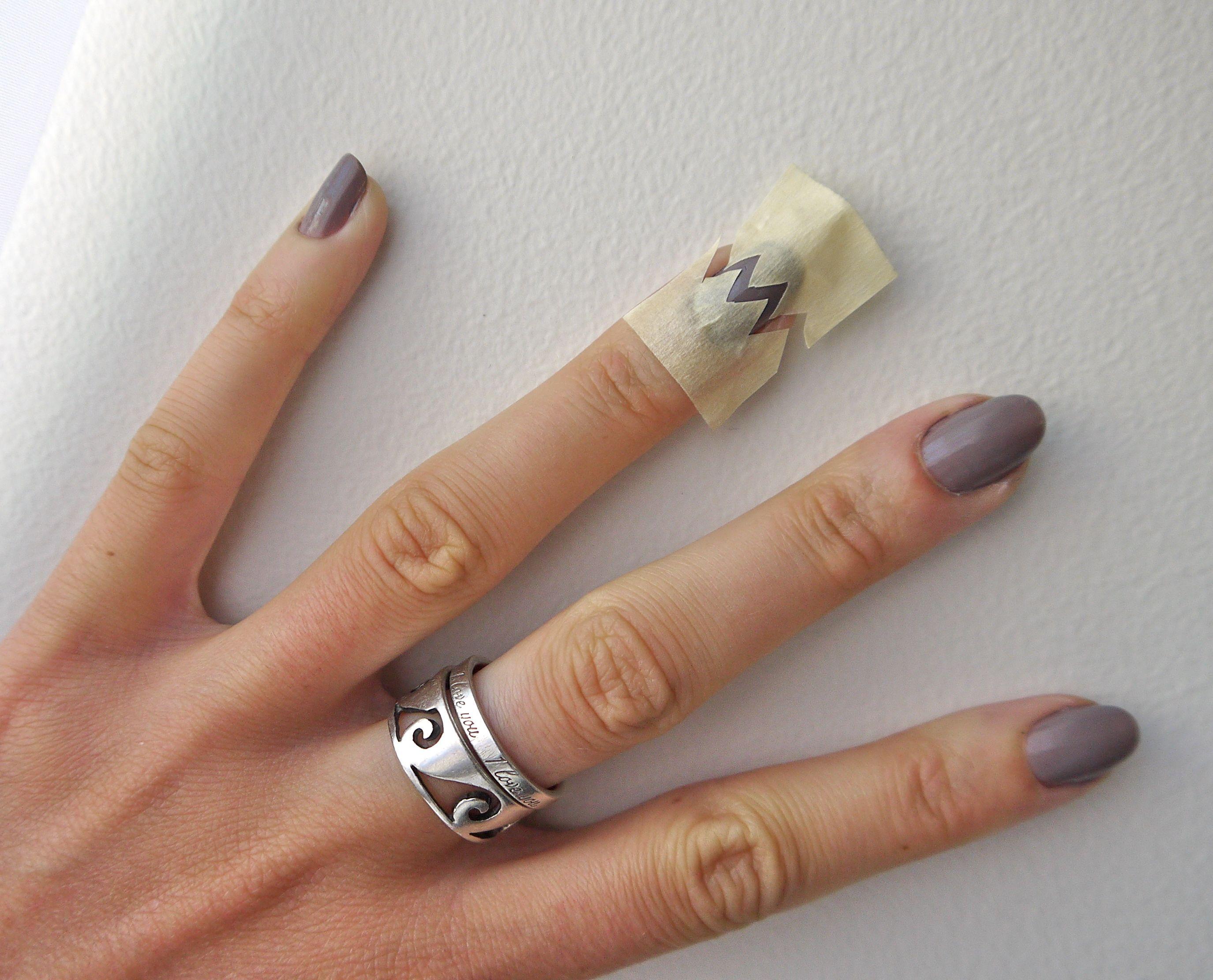 Diy Chevron Nails Tutorial Simple As Pie