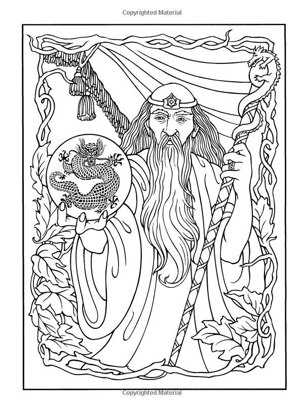 printable coloring pages wisards - photo#16