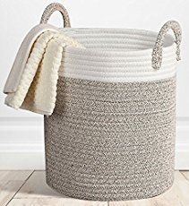 14 fabric crafts DIY rope basket ideas