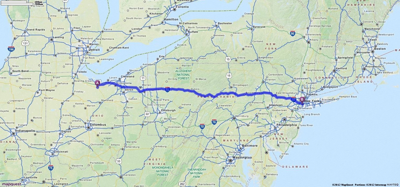 Driving Directions from Norwalk, Ohio to New York, New York ... on map search mapquest, bing maps driving directions mapquest, map of grove city ohio mapquest,