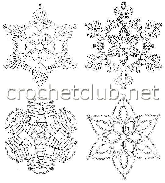 Crochet Motifs - Part 5   CROCHET   Pinterest   Nieve, Navidad y ...