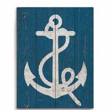 Vintage Anchor Graphic Art Plaque