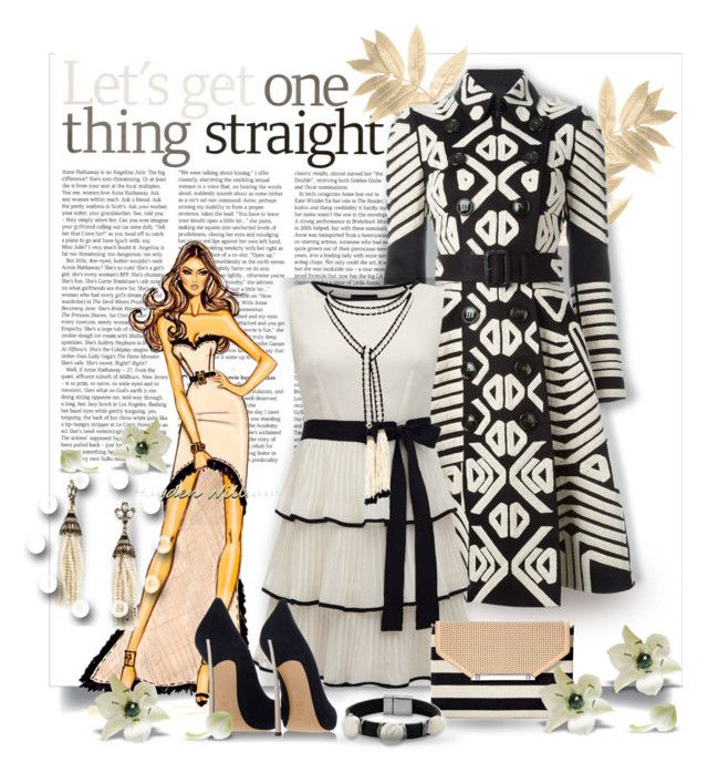 """""""Let's get one thing straight!"""" by wanda-india-acosta ❤ liked on Polyvore featuring Burberry, Casadei, Marina J., Stella & Dot, BaubleBar, women's clothing, women's fashion, women, female and woman"""