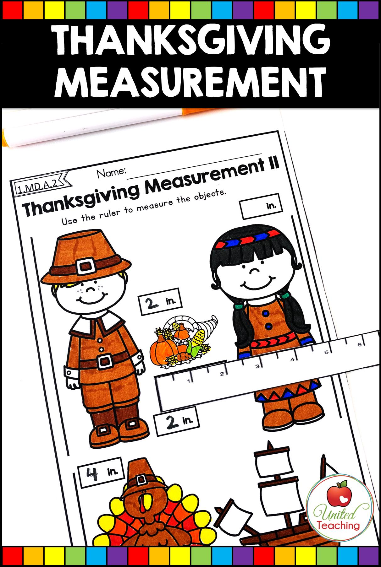 Thanksgiving Math And Literacy Activities 1st Grade