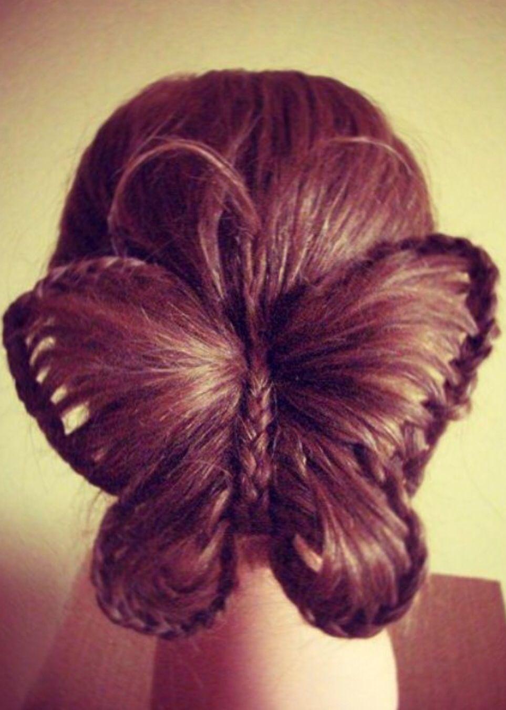 butterfly hair hair pinterest frisur frisuren f r m dchen und friesuren. Black Bedroom Furniture Sets. Home Design Ideas
