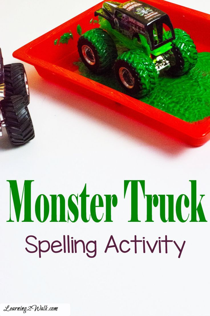 Monster Truck Spelling Practice Spelling Activities Spelling Practice Monster Trucks
