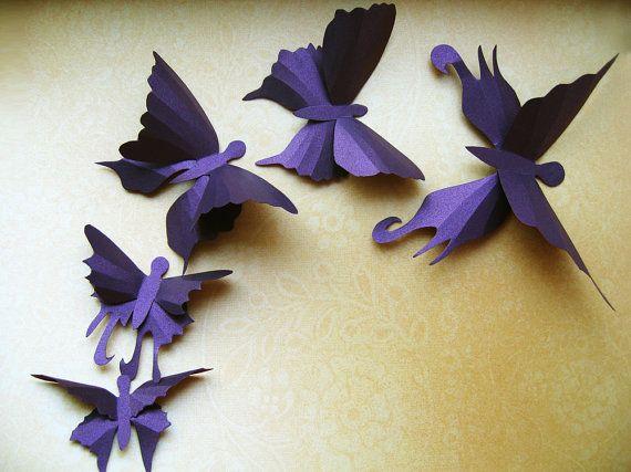 20 3D Wall Butterflies, 3D Butterfly Wall Art, Nursery Decor, Baby,Butterfly Wedding Decor, Girls Room, Cardstock