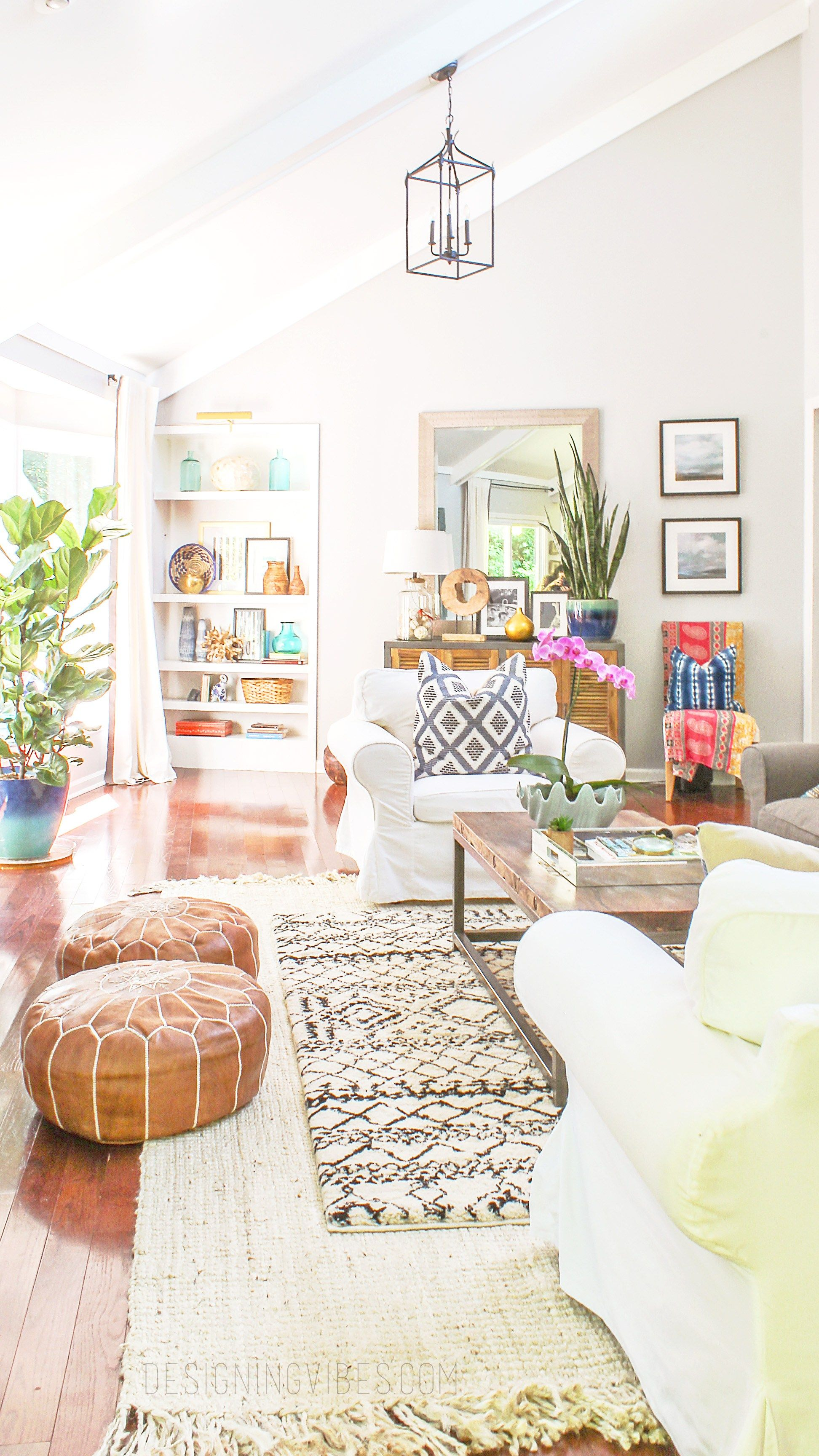 Summer Eclectic Home Tour Boho Chic Decor Glam Living Room