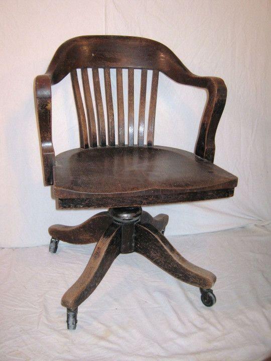 Genial Wooden Bankers Desk Chair   Diy Corner Desk Ideas