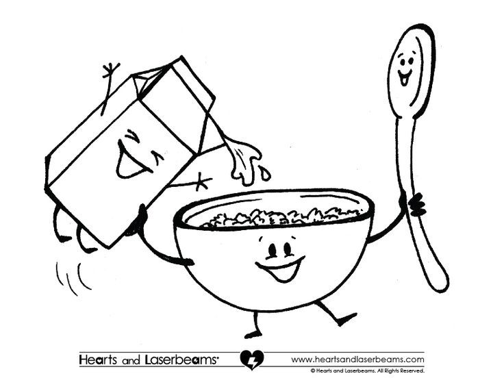 bread cereal rice pasta coloring pages | breakfast coloring sheets - Google Search | Happy National ...