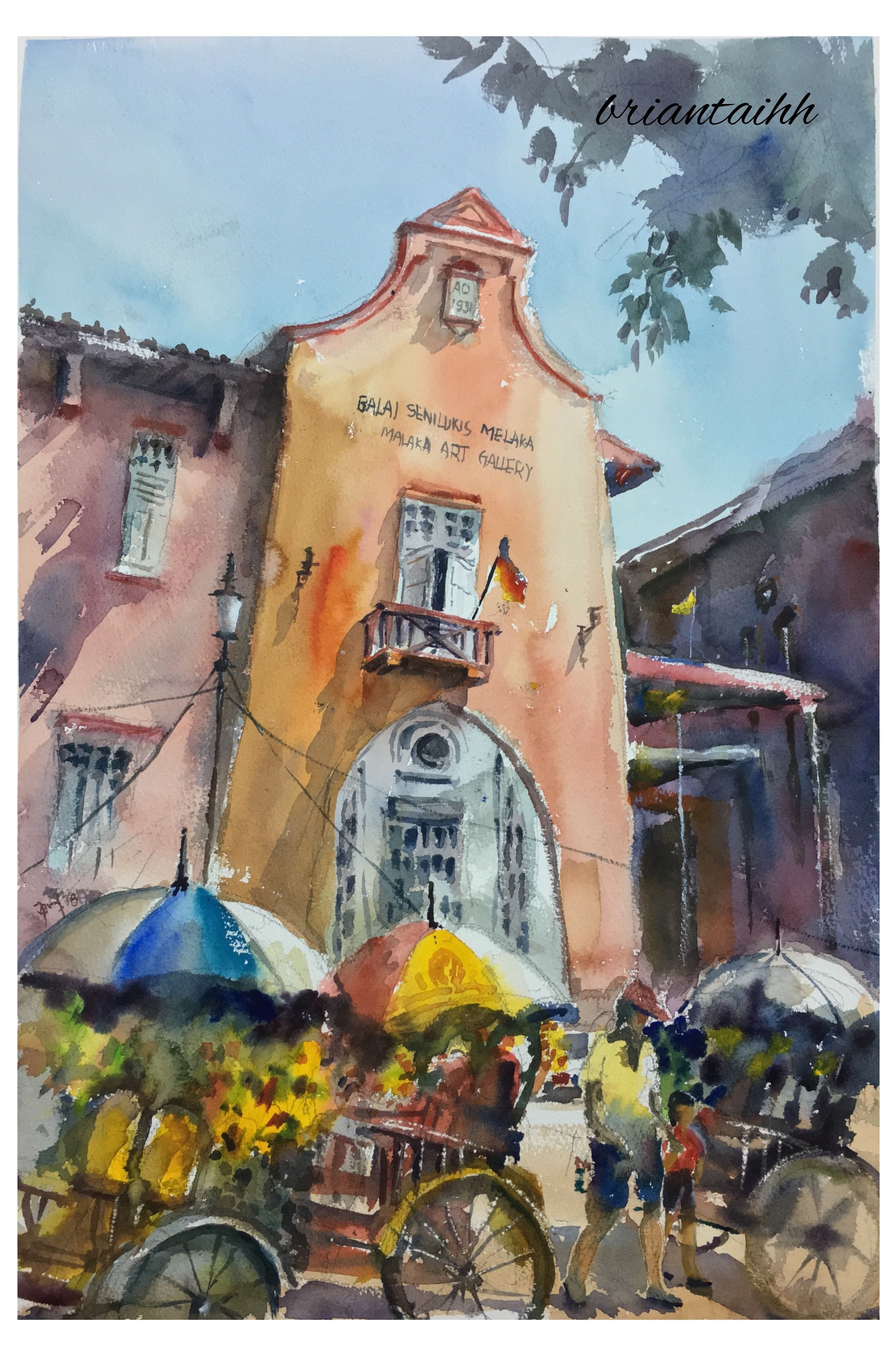 Malacca Art Gallery Watercolour By Brian Tai Art Painting