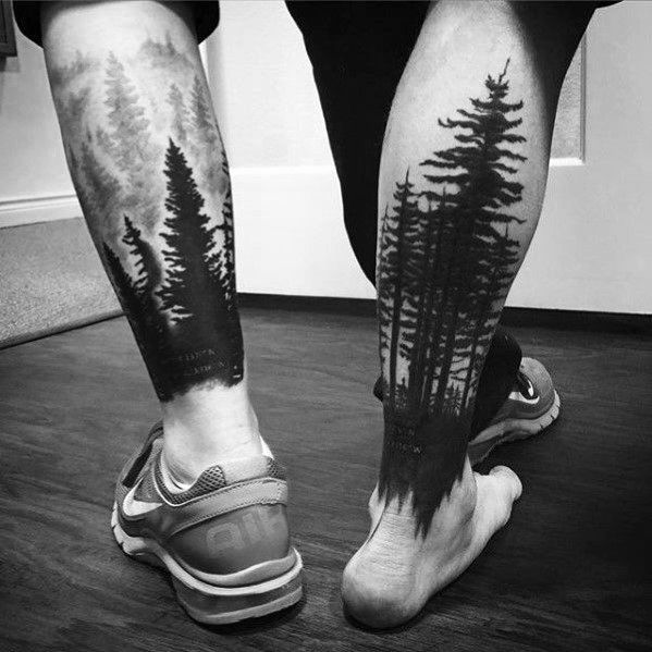 Photo of 40 Tree Leg Tattoo Design Ideas For Men – Rooted Ink – Man Style   Tattoo