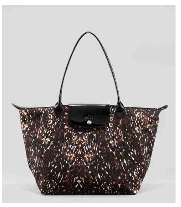 3d7b34922e2cb LONGCHAMP Multicolor Le Pliage Fauve Shoulder Tote Bag Multi Animal ...