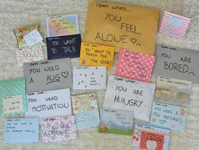 Open When Post Eine Tolle Geschenk Idee Diy Geschenke Abschied Geschenkideen Geschenke