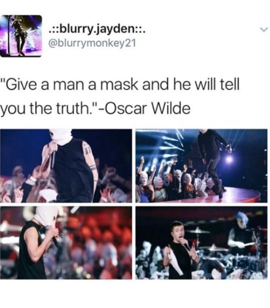 """""""You give a man a mask and he'll become his true self,"""" -The Joker"""