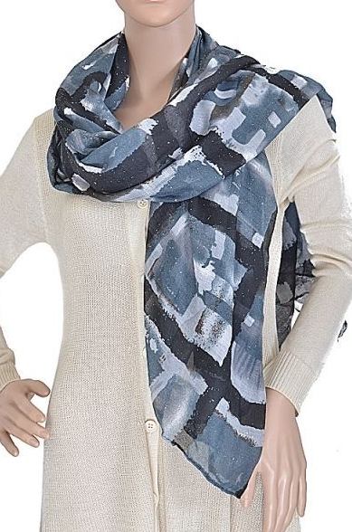 Navy Abstract Scarf #navy #abstract #printed #scarf