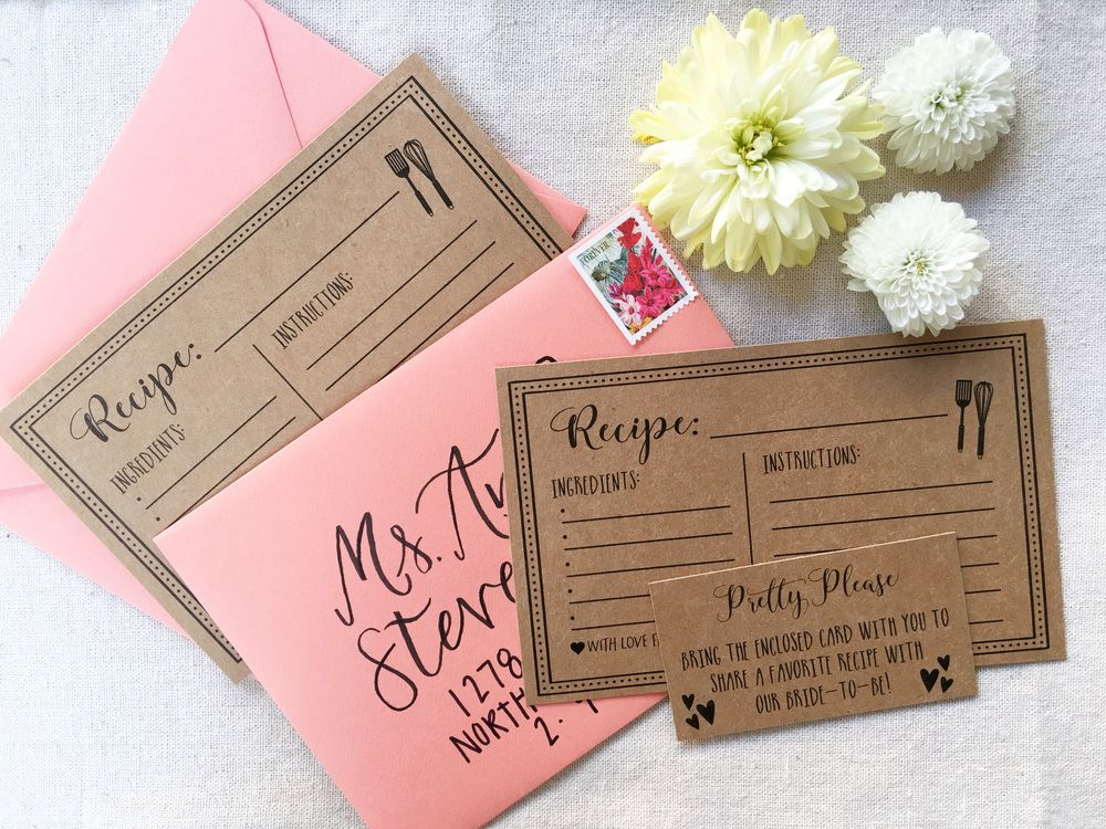 graphic regarding Free Printable Recipe Cards for Bridal Shower identify Totally free Printable Recipe Playing cards Luv is inside the air~Bridal