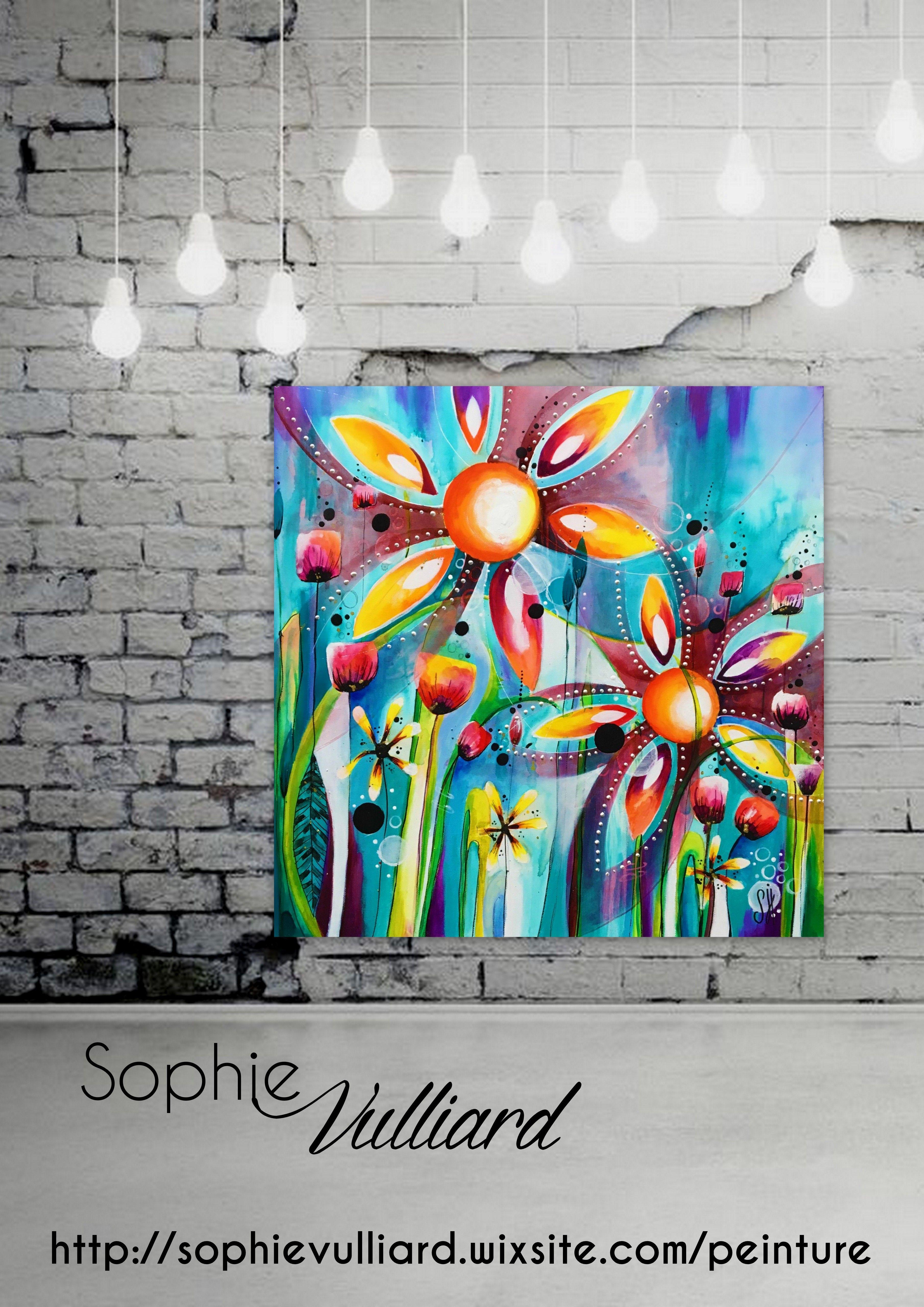 Sophie Vulliard Acrylique Peinture Peinture Spontanee Intuitive