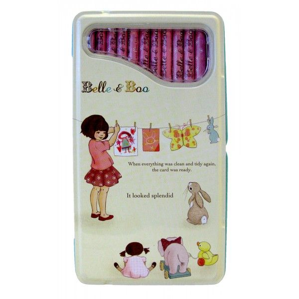 Toys For Tots Letter Head : Coloured pencil set in illustrated tin from belle boo