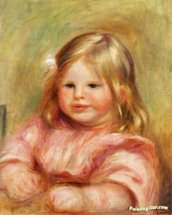 Portrait of Coco Artwork by Pierre Auguste Renoir Hand-painted and Art Prints on canvas for sale,you can custom the size and frame