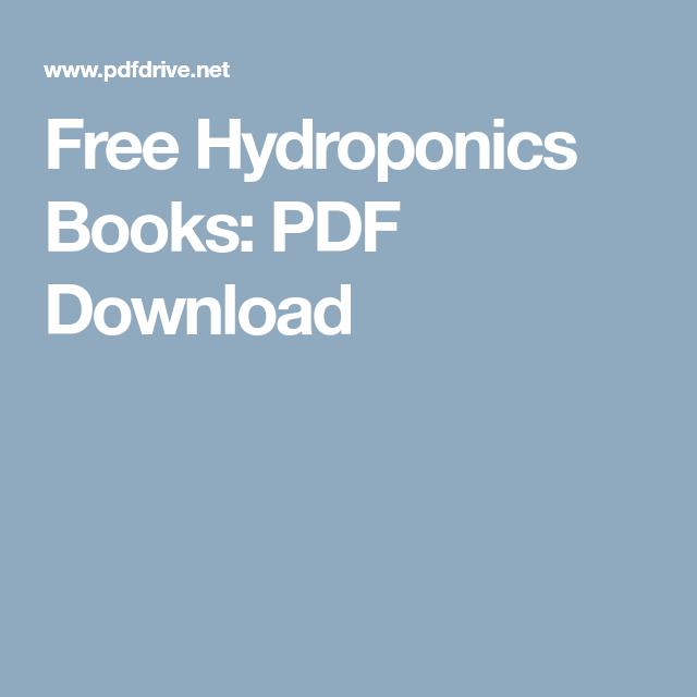 Free Hydroponics Books Pdf Download Farming Hydroponics Pdf