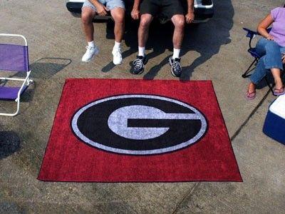 Georgia UGA Bulldogs Red G 5X6ft Indoor/Outdoor Tailgate Area Rug/Mat/Carpet