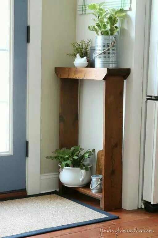 Plant Stand For Our Bedroom Small Decor Diy Console Table Small Hallway Table