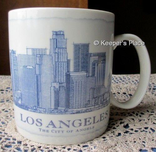 Starbucks 2007 Los Angeles City Of Angels Architectural Coffee Cup Mug 18oz Mint #Starbucks