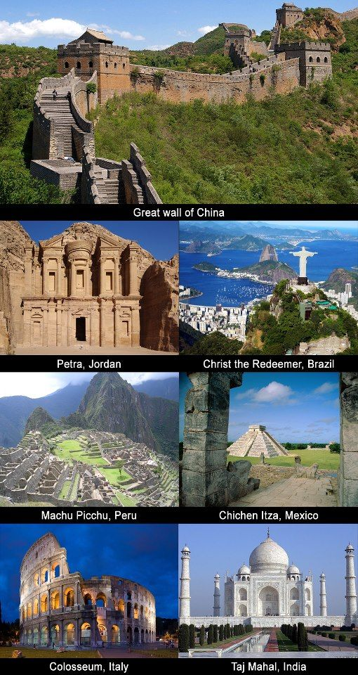 The 7 Wonders 7 World Wonders Places To Travel Travel Around The World