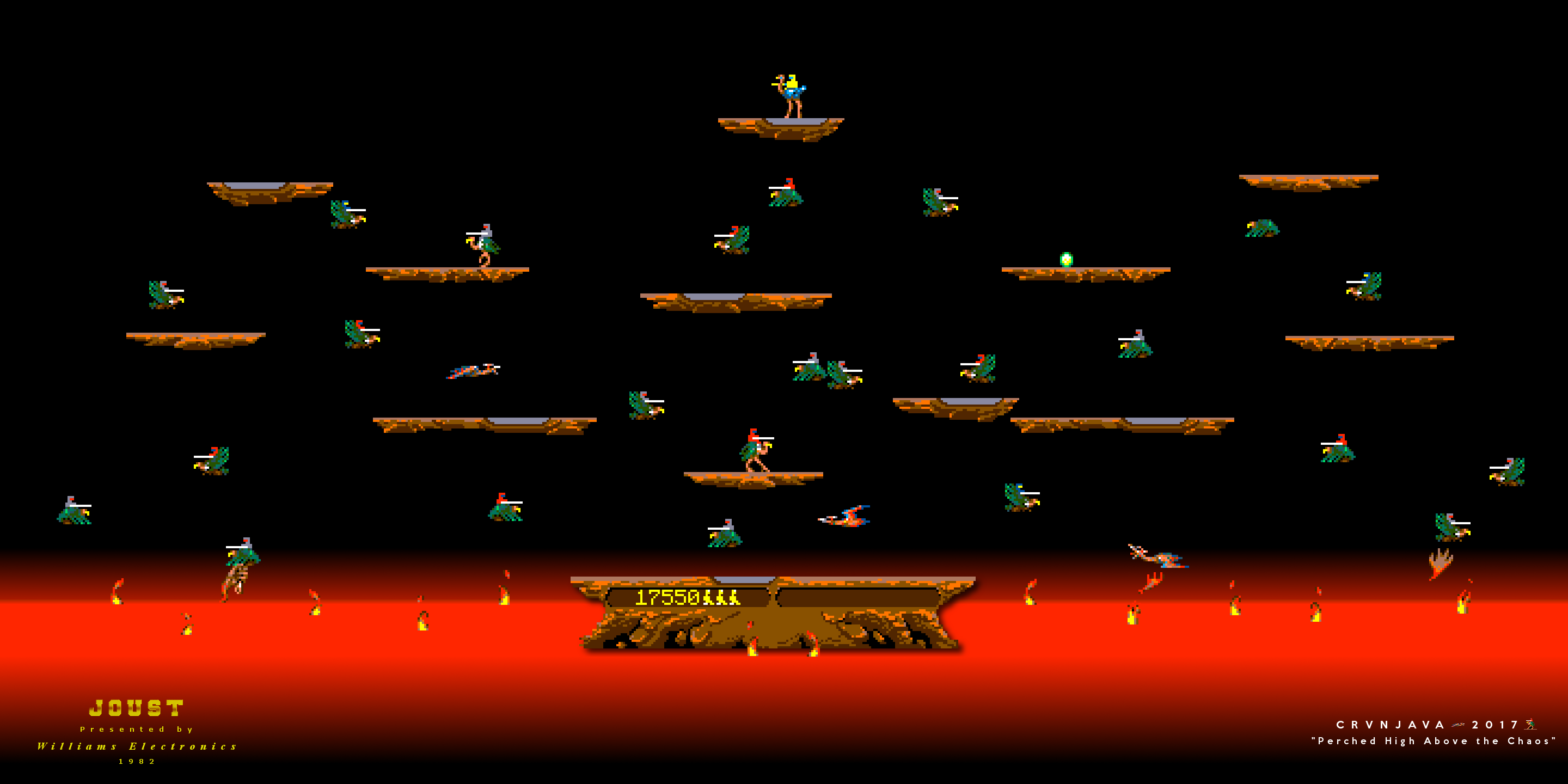 Joust Arcade Game Computer Wallpaper