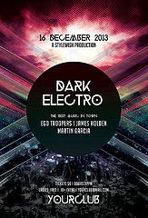 Dark Electro Flyer Stylewish Studio Tags Alternative Black Club