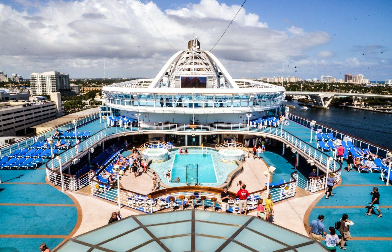Main Pool Deck Caribbean Cruise Western Caribbean