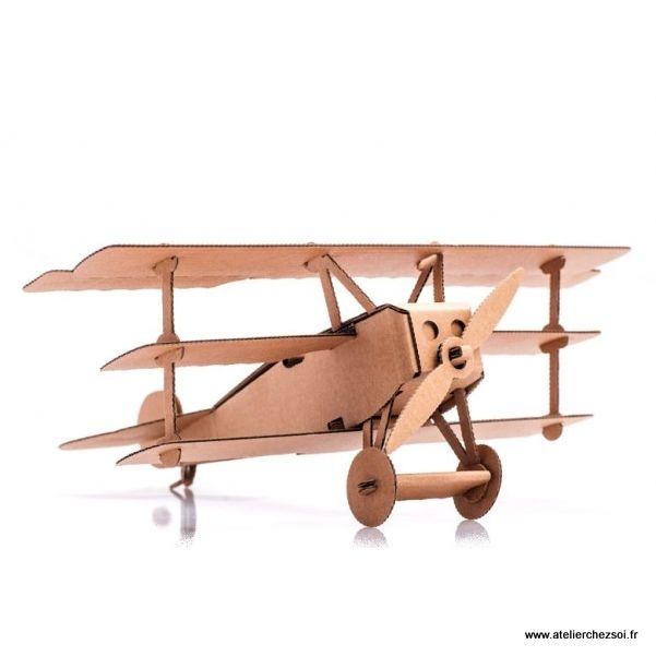 avion en carton baron rouge construire leolandia maquette en carton de l 39 atelier chez soi. Black Bedroom Furniture Sets. Home Design Ideas
