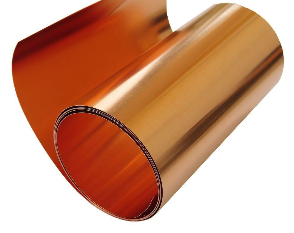 Copper Foil Sheet 5 Mil 36 Gauge 12 X 4 Tooling Metal Roll Copper Sheets Copper Roll Copper Crafts