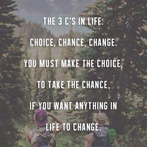 Choice Chance Change Words Motivational Quotes Picture Quotes